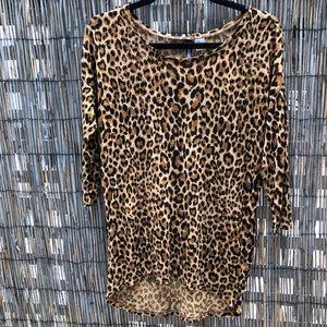 Women's leopard print tunic.